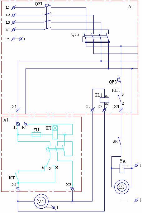 Схема подключения насоса к системе электроснабжения