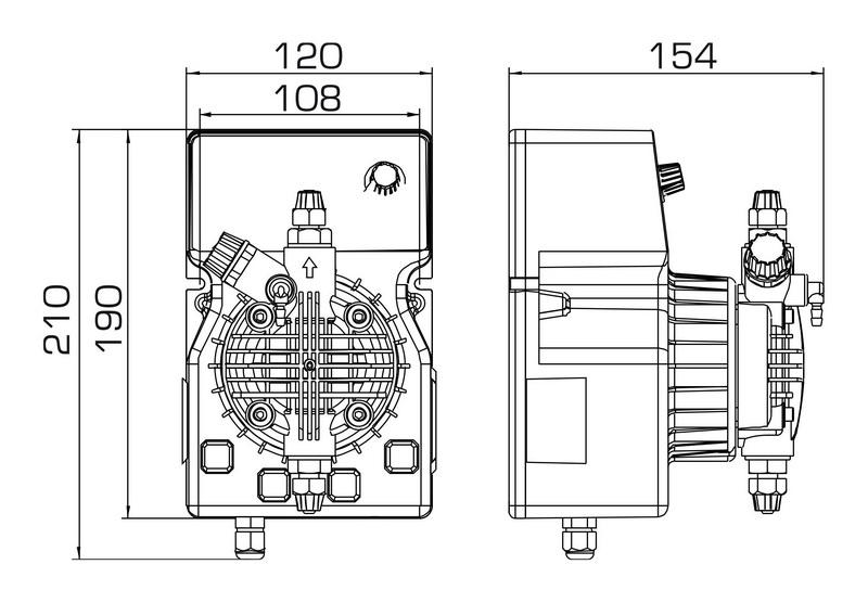 Насос DLX-MA/MB 15-4 230V PVDF